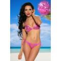 SAMEGAME Pailletten-Bikini (pink / silver)