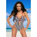 SAMEGAME Monokini (white / black / red)