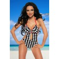 SAMEGAME Monokini (black White Red)