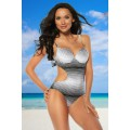 SAMEGAME Monokini (black-and-white)