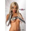 SARESIA Handschuhe im Metallic-Look (silver)