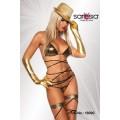 SARESIA Gogo-Wickel-Bikini (gold / schwarz)