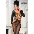 SARESIA Bodystocking ouvert (black)