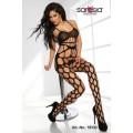 SARESIA Bodystocking ouvert (black)