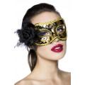 VARIOUS Maske (schwarz / gold)