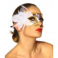 VARIOUS Maske (white / gold)