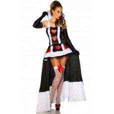 VARIOUS Alice-im-Wunderland-Kostüm (black White Red)