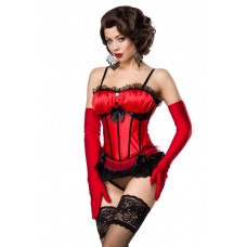 VARIOUS Burlesque-Corsage (Red Black)