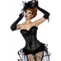 VARIOUS Burlesque-Satin-Corsage (black)
