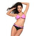 VARIOUS Push-Up-Bikini (black / pink)