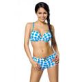 VARIOUS Push-Up-Bikini-Set (white / turquoise)