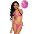 VARIOUS Pailletten-Bikini (pink / silver)