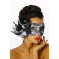 VARIOUS Maske mit Spitze und Pailletten (see image)