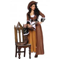 VARIOUS Piratenkostüm (brown / white / black)