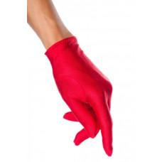 VARIOUS Satin-Handschuhe kurz (red)