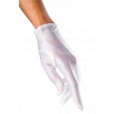 VARIOUS Satin-Handschuhe kurz (White)