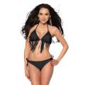 VARIOUS Bikini mit Fransen (black)