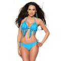 VARIOUS Bikini mit Fransen (turquoise)