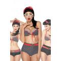 VARIOUS Vintage-Bikini (black / red / white)