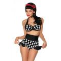VARIOUS Vintage-Push-Up-Bikini (black-and-white)