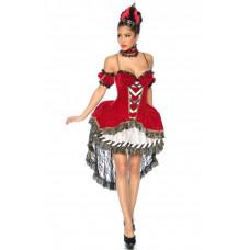 VARIOUS Alice-im-Wunderland-Kostüm (red / black / white)