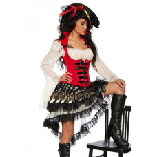 VARIOUS Piratenkostüm (Red Black)