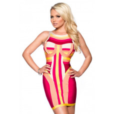 VARIOUS Echts Bandage-Shape-Kleid (colorful)