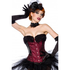 VARIOUS Burlesque-Corsage (black red)