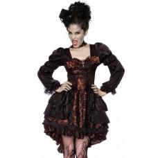 VARIOUS Premium-Vampir-Kostüm (Brown black)