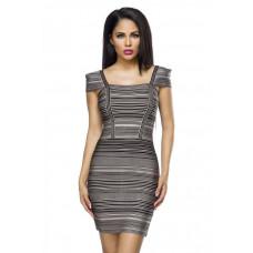 VARIOUS Bandage-Kleid (beige / black)
