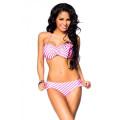 VARIOUS Bandeau-Bikini (pink / white)
