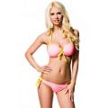VARIOUS Push-Up-Bikini (rosa / yellow)