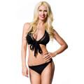 VARIOUS Neckholder-Bikini (black)