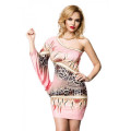 VARIOUS Raffiniertes Minikleid (pink / patterned)
