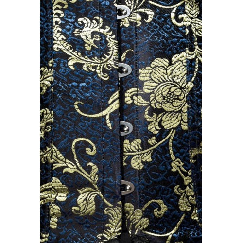 f9811236ce8f9f VARIOUS Unterbrust-Corsage (blue/gold)