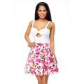 VARIOUS Sommerkleid mit Blumendruck (white / patterned)