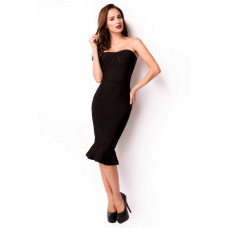 VARIOUS Bandage-Shape-Kleid (black)