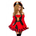 VARIOUS edles Piraten Kostüm (Red Black)
