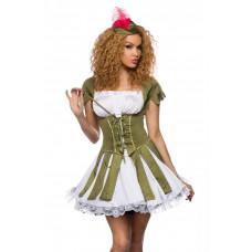 VARIOUS sexy Robin Hood Kostüm (green white)