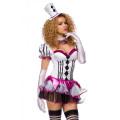VARIOUS Harlekin Kostüm (white / pink)