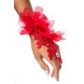VARIOUS floraler Handschmuck (red)
