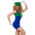 VARIOUS Luigi Kostüm (green / blue / white)