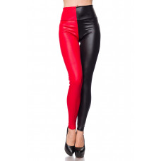 VARIOUS Leggings (black red)