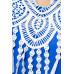VARIOUS Boho-Tunika (blau)