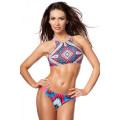 VARIOUS sportlicher Bikini (pink / blue / white)