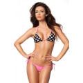 VARIOUS Triangel-Bikini (pink / black / white)