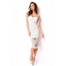 VARIOUS Bandage-Shape-Kleid (White)