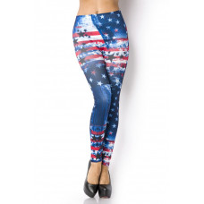 VARIOUS Leggings (blue / red / white)